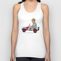 jurassic park Tank Tops featuring Jurassic Park by DWatson
