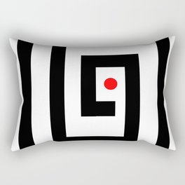 Focus on red point - Vector Rectangular Pillow