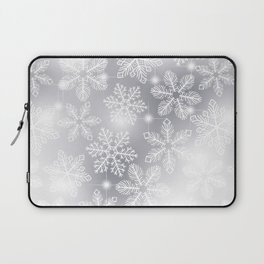 Snowflakes and lights Laptop Sleeve