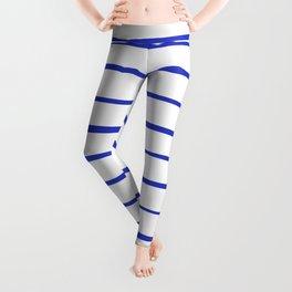 blue strips Leggings