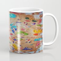 egyptian Mugs featuring Egyptian papyrus by Sandra Angelini