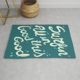 SURFIN' ALL IN THIS Rug