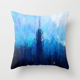 Empire State Building - New York City - Cityscape Wall Art, Poster, Impressionism Paintings, Prints Throw Pillow