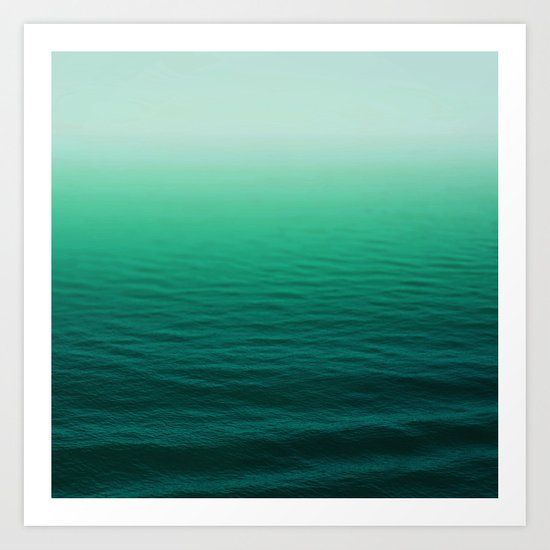Deep Aqua Waves Art Print