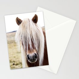 Icelandic Horse on a Farm Stationery Cards