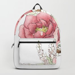 Watercolor Flowers - Garden Roses Backpack