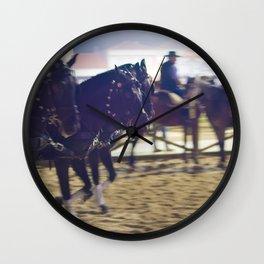 Feira da Golega 2015 3 horses 35 mm Wall Clock