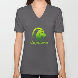 Capricorn Earth Sign Graphic Zodiac Birthday Gift Idea Horoscope Design Unisex V-Neck