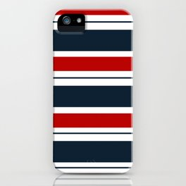 Red, White, and Blue Horizontal Striped iPhone Case