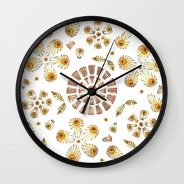 Pressed Flowers Wall Clock