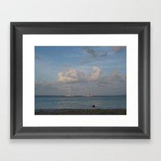 Jamaica - Sailing on the Seas Framed Art Print