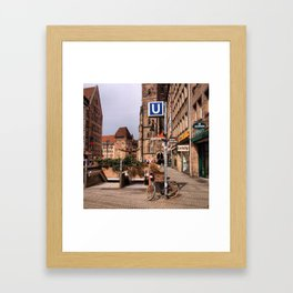 Change to U-Bahn Framed Art Print
