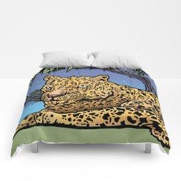 Leopard In The Moonlight Comforters