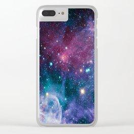 space Nebula Clear iPhone Case
