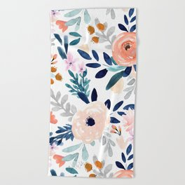 Jolene Floral Beach Towel