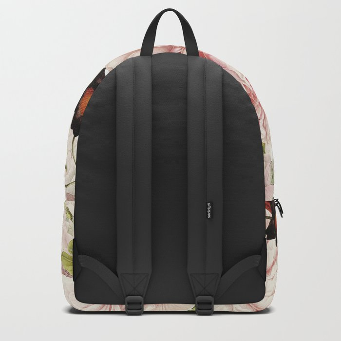 Vintage Peony and Ipomea Pattern - Smelling Dreams by #UtART Backpack