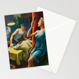 Classical Masterpiece 'Poker Night, From A Street Car named Desire by Thomas Hart Benton Stationery Cards