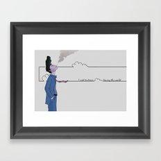 Slipping Away Framed Art Print