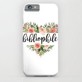 Heartshaped Bibliophile - White iPhone Case