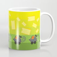 cheese Mugs featuring cheese lover by mangulica illustrations