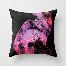 Celestial Cat - The British Shorthair & The Pelican Nebula Throw Pillow