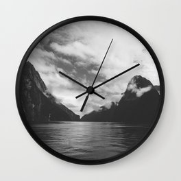 milford clouds Wall Clock