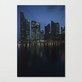 Singapore at dusk Canvas Print