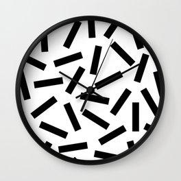 Modern Memphis Pattern Wall Clock