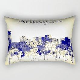 Arlington city skyline blue yellow Rectangular Pillow