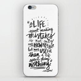 -George Bernard Shaw iPhone Skin