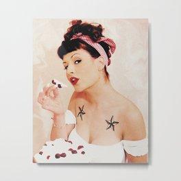 The Cherry Girl Metal Print