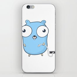 Golang - gopher wizard iPhone Skin