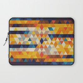Geometric Triangle - Ethnic Inspired Pattern - Orange, Blue Laptop Sleeve