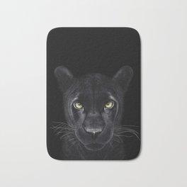 Black Panther on black Bath Mat