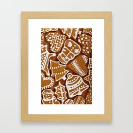 Christmas Gingerbread Cookies Framed Art Print