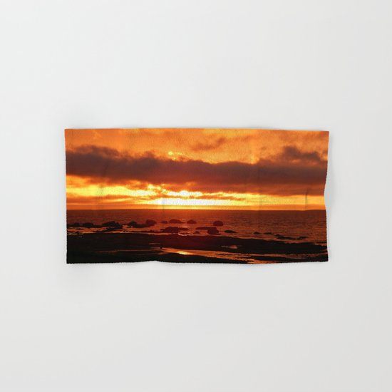 Skies of Fury at Sunset Hand & Bath Towel