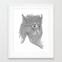 beast Framed Art Prints featuring Beast by Olya Goloveshkina