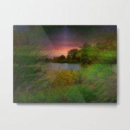 Sunset On The Lagoon Metal Print