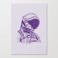 interstellar Canvas Prints featuring interstellar  by Osman SARGIN