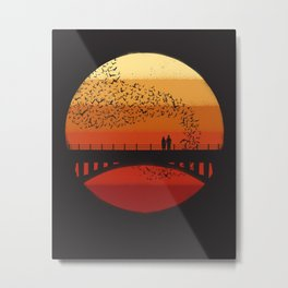 Into the Setting Sun Metal Print