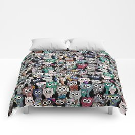 Gemstone Owls Comforters