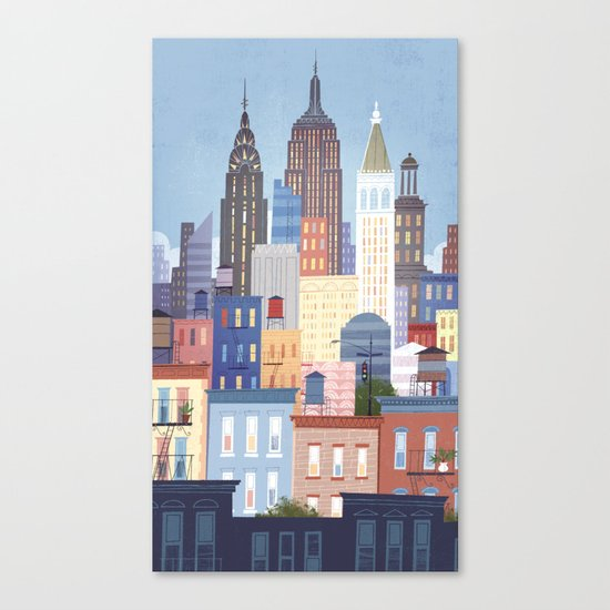 NYC stacked Canvas Print