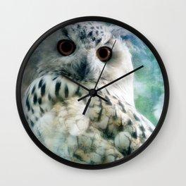SNOW OWL Wall Clock