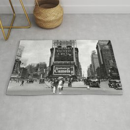 Times Square, New York City, Summer 1929 Rug