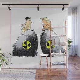 donald trump vs kim jong un Wall Mural