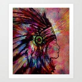Native American Medicine Woman Spiritual Shaman Kunstdrucke