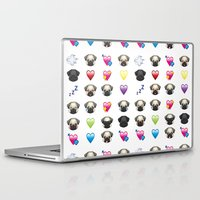 emoji Laptop & iPad Skins featuring Emoji Pug  by Huebucket