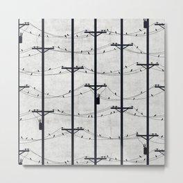 Telephone Poles - DAWN Metal Print