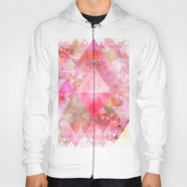 Triangles in pink - Watercolor Illustration pattern Hoody