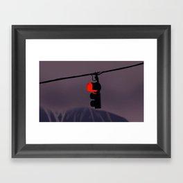 Traffic light Framed Art Print